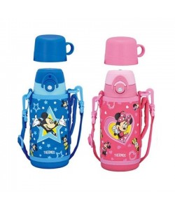 Thermos 600ml Disney Dual Stopper Bottle With Pouch FFG-601WFDS