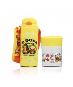 Thermos B-Duck 0.40L Ice Cold Bottle + 0.30L Food Jar Gift Set