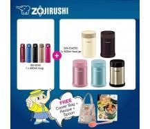 Zojirushi Food Jar SW-EAE50 500ml + One Touch Mug SM-SD48 480ml