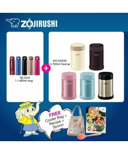 Zojirushi Food Jar SW-EAE50 500ml + One Touch Mug SM-SD48 480ml