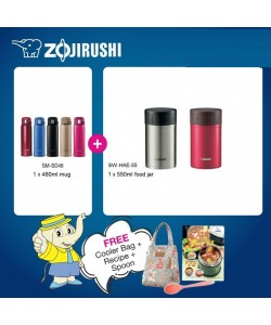 Zojirushi Food Jar SW-HAE55 550ml + One Touch Mug SM-SD48 480ml