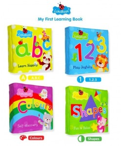 LakaRose Early Learning Cloth Book