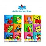 LakaRose Early Learning Cognitive Cloth Book 6pcs/set